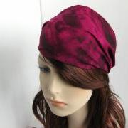Purple Pink Maroon Swirl Bandana Head Wrap Women's Dreadband Gypsy Hippie Headband