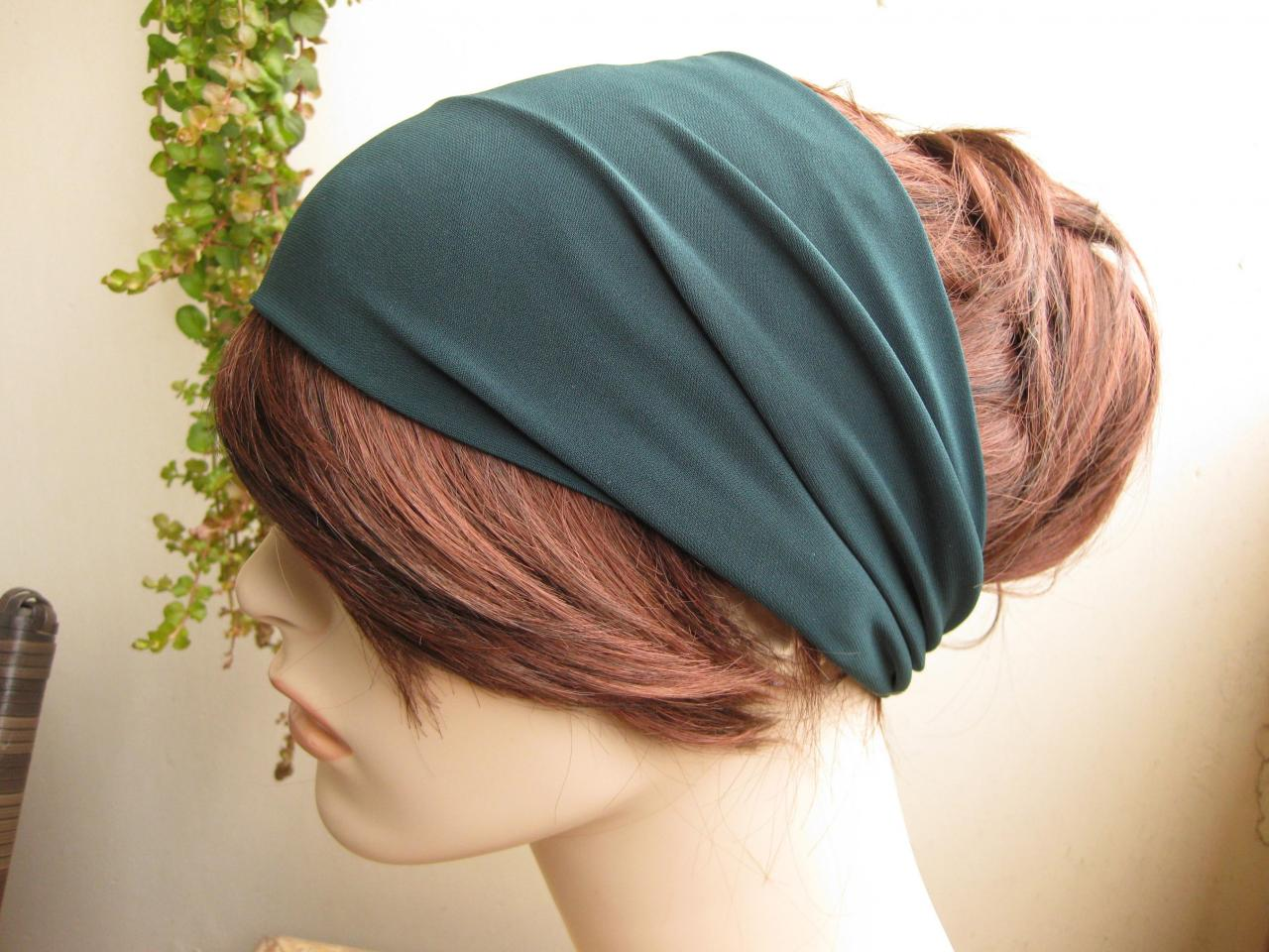 Turban Head Wrap, Wide Hair Band, Women's Yoga Wrap, Wide Headband, Yoga Headband